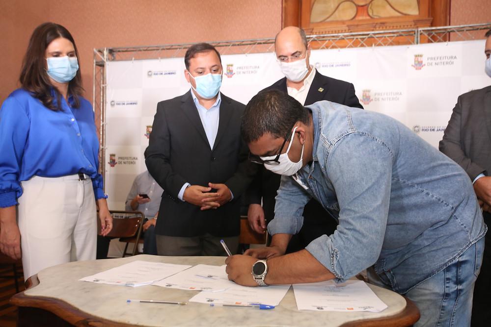 Acordo foi assinado no Solar do Jambeiro/Foto: Luciana Carneiro