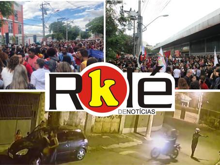 Estudantes tomaram as ruas de Niterói e Maricá; 'Arrastão' em Nova Cidade com oito vítimas