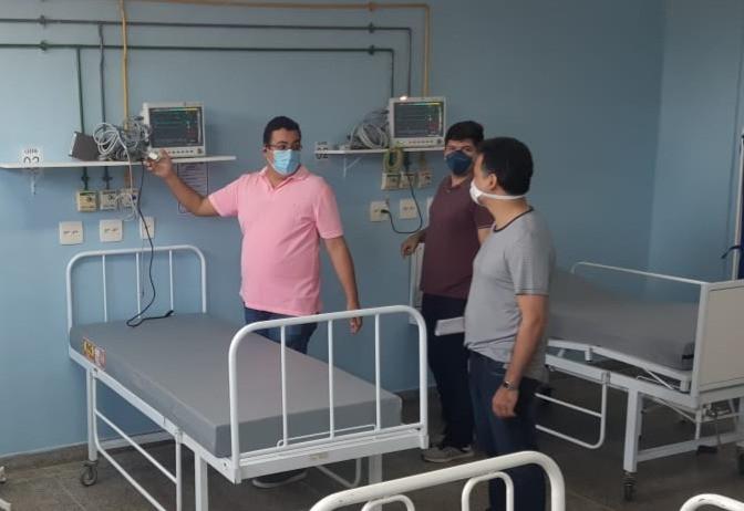 Secretário Jefferson Antunes visitou o Hospital/Foto: Divulgação