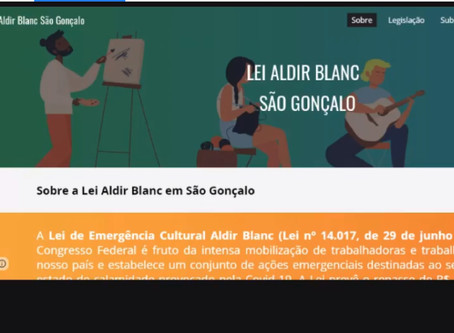 Cultura de SG lança site exclusivo sobre Lei Aldir Blanc