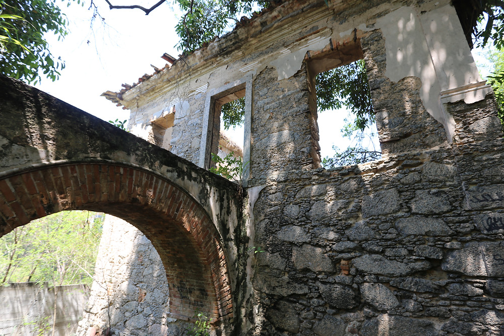 Ruínas da Chácara do Vintém/Foto: Luciana Carneiro