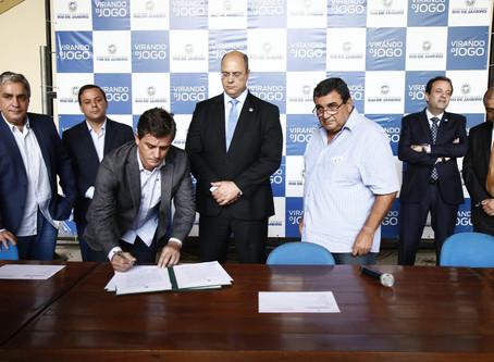 Acordo que garante R$ 90 milhões para SG é assinado no Palácio Guanabara