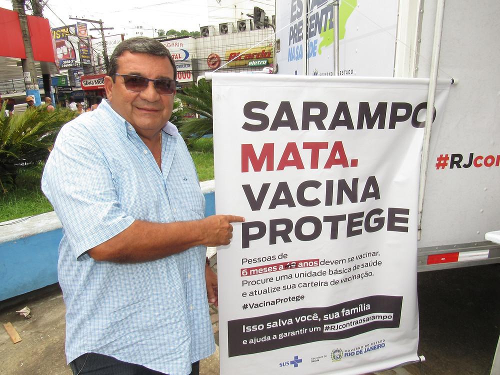 O prefeito José Luiz Nanci recebeu a carreta/Foto: Divulgação