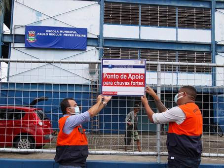 Defesa Civil de São Gonçalo indica pontos de apoio em casos de chuvas fortes