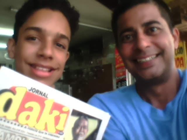 Claudionei e o jornalista Helcio Albano. Fevereiro de 2016/Acervo Jornal Daki