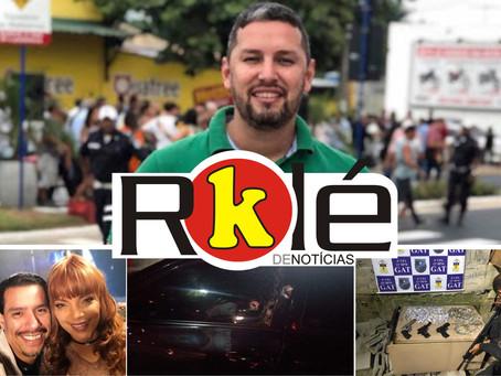 Romário Barros, do LSM, executado em Maricá; Diney Marins sofre atentado em Niterói e mais