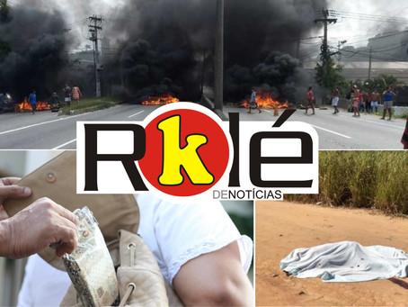 Tragédia no Vila Três; Moradores fecham RJ-106 em protesto e mais