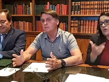 Capitão cloroquina ataca uso de máscara em live
