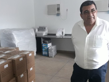 Nanci acompanha instalações do novo laboratório municipal no Gradim