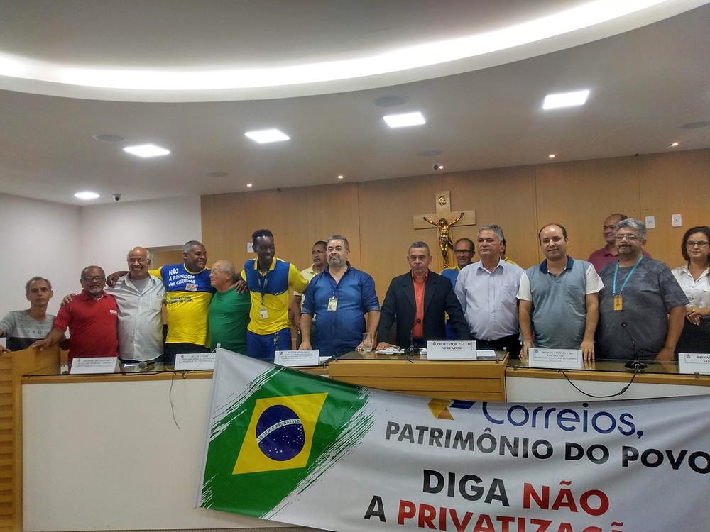 A representação dos trabalhadores compareceu em peso/Foto: Divulgação