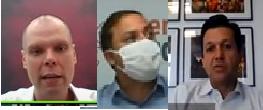 Bruno Covas, Rodrigo Neves e Geraldo Julio/Reprodução YouTube