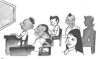 Em sala de aula, por Fábio Rodrigo