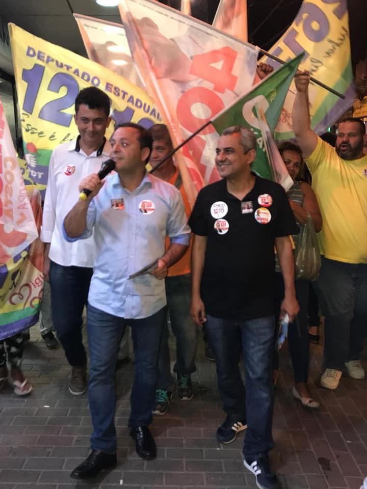 Henrique Porto, Rodrigo Neves e Marlos Costa marcham juntos na campanha de 2018/Foto: Facebook