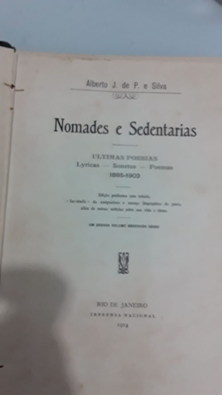 Foto do livro Nômades e Sedentários, de Alberto José de Paula Silva