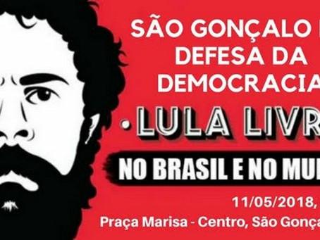 SG faz ato em defesa da democracia e por #LulaLivre