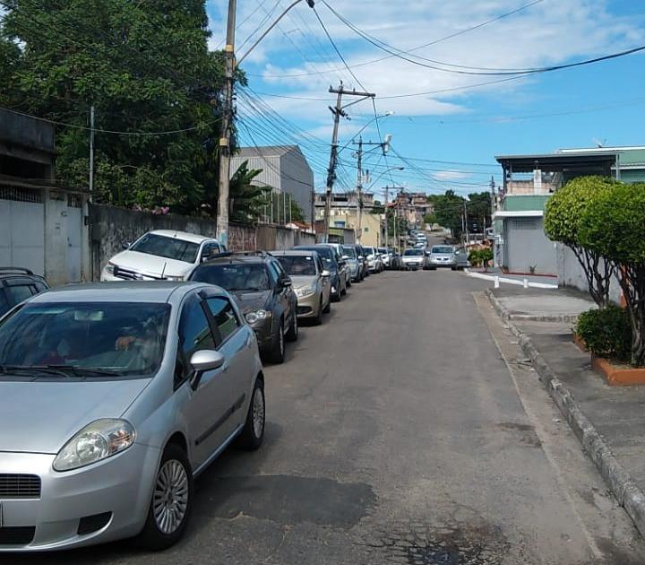 Longa filas de carros se formou em Nova Cidade/Foto: Divulgação