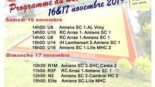 Programme du week-end 17&18 novembre