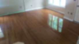 brown refinished floor