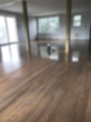 stained oak refinished floors