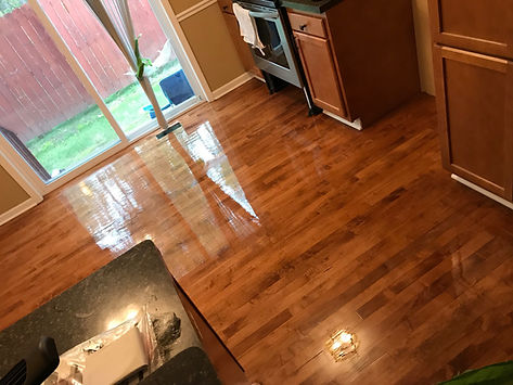 Hardwood floor in a kitchen