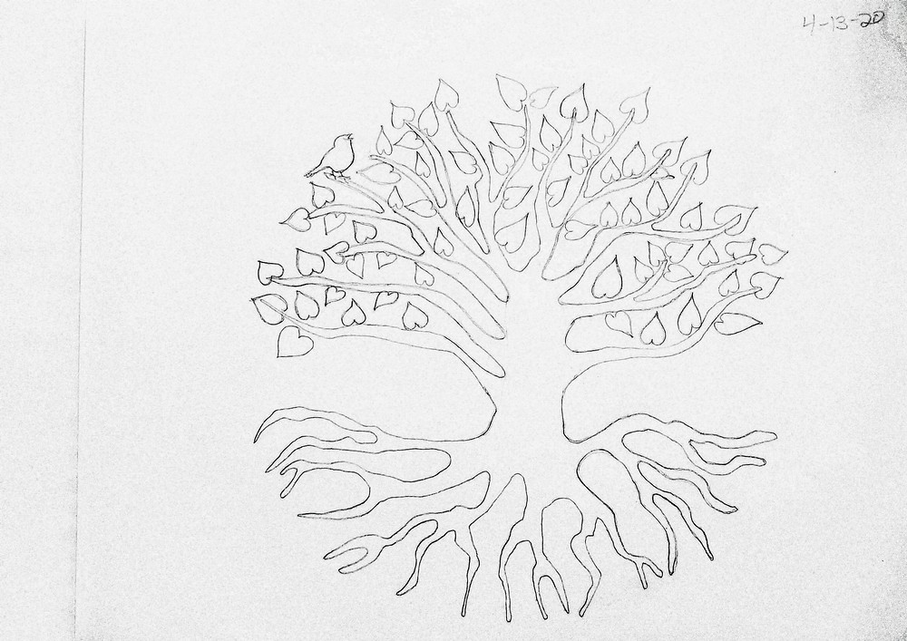 Original Sketch Artwork for Love Logo