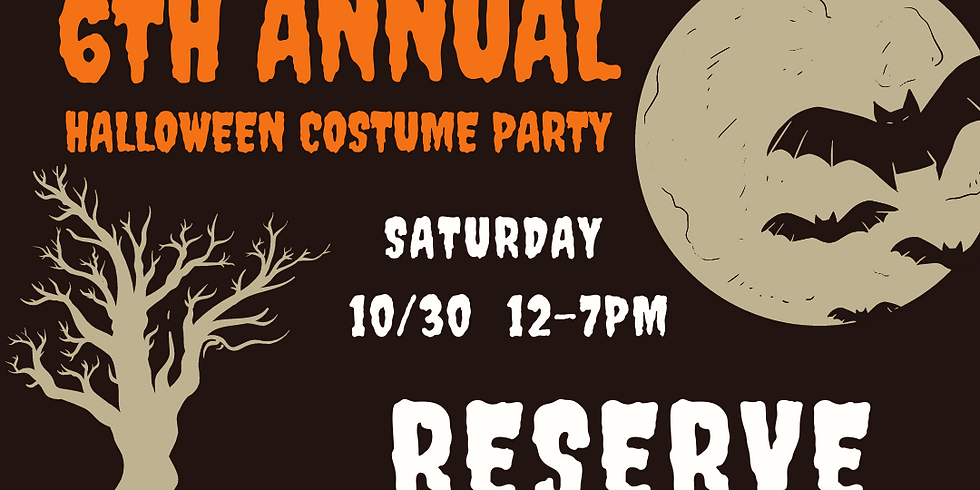 6th Annual Halloween Costume Contest 4-7pm Reservation