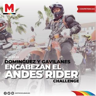Dominguez y Gavilanes encabezan el Andes