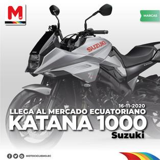 Katana 1000 SUZUKI llega al mercado ecuatoriano