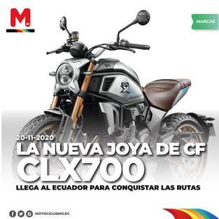 LA NUEVA JOYA DE CFMOTO CLX700 LLEGA AL ECUADOR PARA CONQUISTAR LAS RUTAS