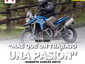 Entrevista Roberto Garcés Nieto, periodista Motociclismo.ec