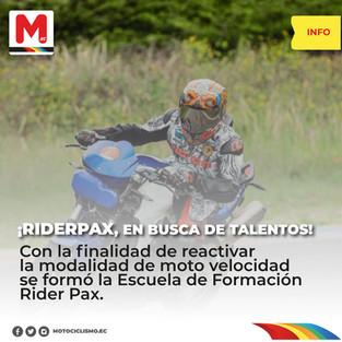 RiderPax, en busca de nuevos talentos de Motovelocidad