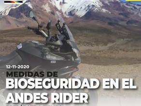 Bioseguridad del Andes Rider, garantizada