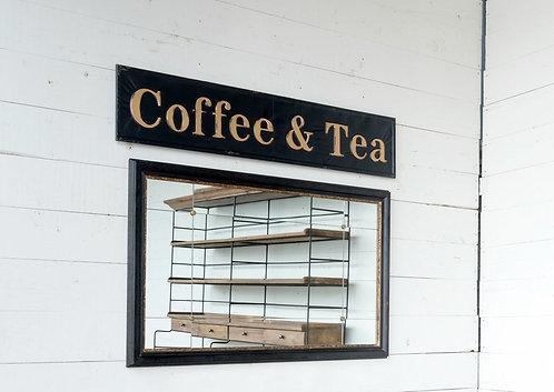 Coffee & Tea Metal Sign