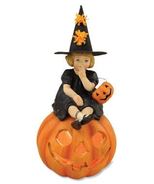Skylar on Pumpkin - Bethany Lowe