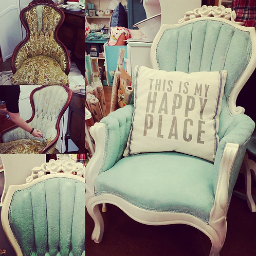 Chalk Painted Chair - Soft Mint
