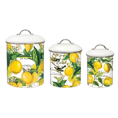 Lemon Basil Canister Set of 3