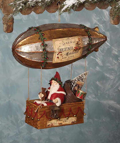 Santa in Dirigible - Bethany Lowe