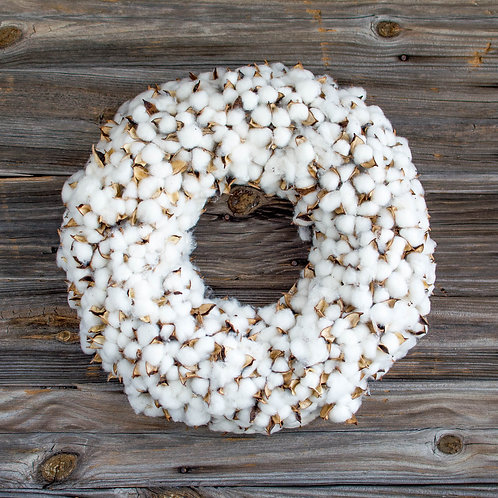 "18.5"" Cotton Wreath"
