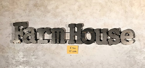 Farmhouse Metal Word