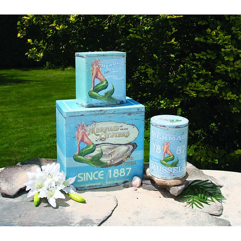 MERMAID SEAFOOD TINS SET OF 3