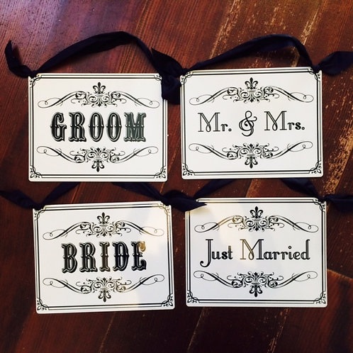 Wedding Metal Hanging Sign