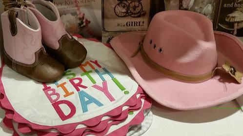 Its My Birthday bib - Pink