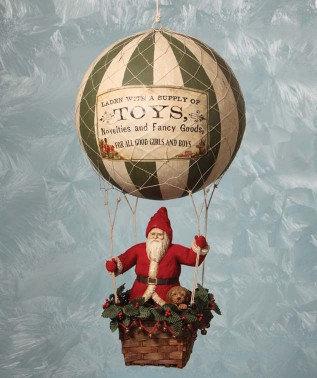 Hot Air Balloon Santa - Bethany Lowe