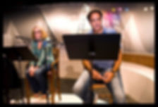 Teri Clark Linden & Brad Garrett in Pat Fraley's Comedy Under the Stars Training Event