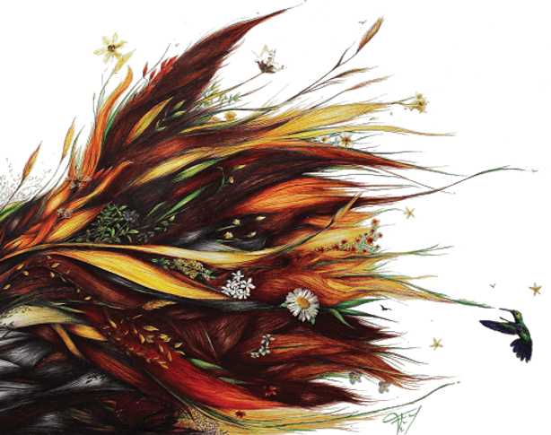 Logo du salon de coiffure comme une fleur