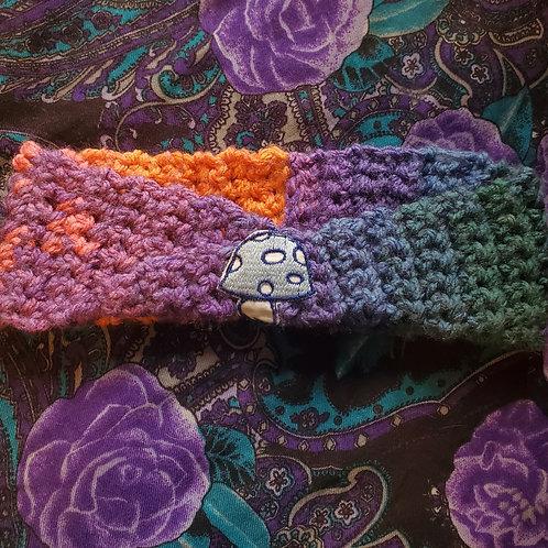 Vintage Mushroom Patch Crochet Headband