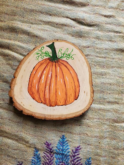 Pumpkin Wood Hanging