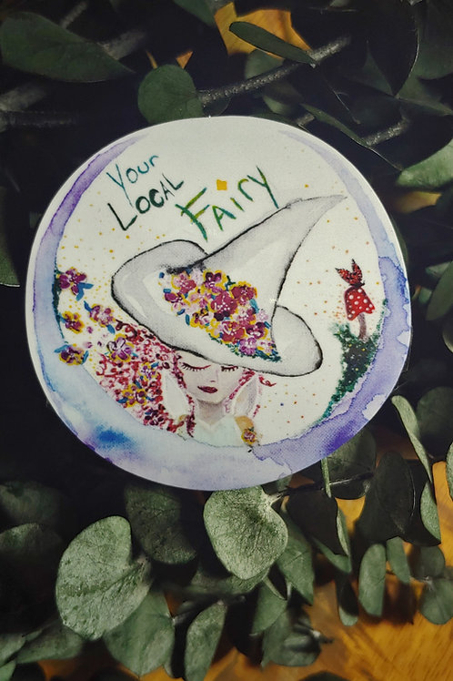 """""""Your Local Fairy"""" Original Logo Sticker"""