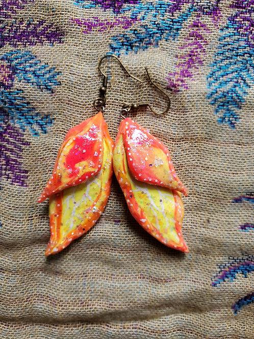 Sunset Fairy Wing Earrings