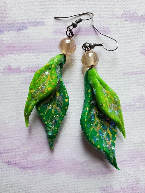 Leaf Fairy Wing Earrings
